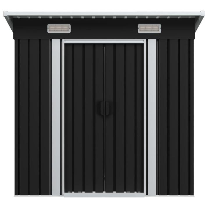 Antracitszürke acél kerti fém fészer - utánvéttel vagy ingyenes szállítással