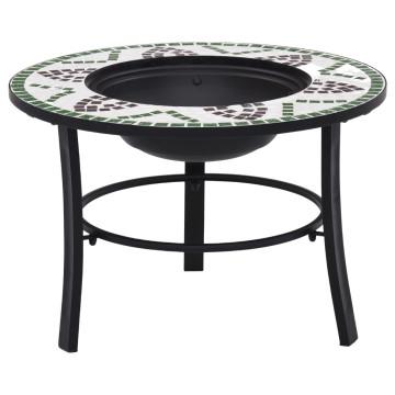 Zöld kerámia mozaikos tűztál 68 cm - utánvéttel vagy ingyenes szállítással