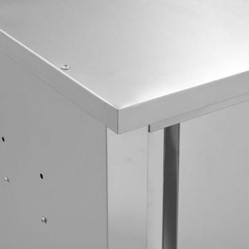 Rozsdamentes acél fali konyhaszekrény tolóajtókkal 150x40x50 cm - utánvéttel vagy ingyenes szállítással