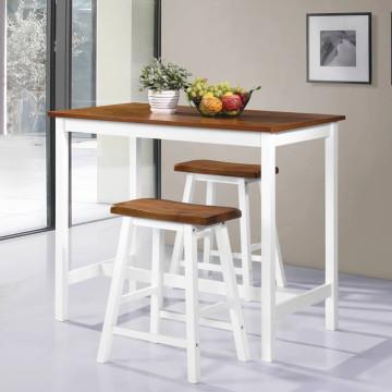 3 részes tömör fa bárasztal és szék szett - utánvéttel vagy ingyenes szállítással