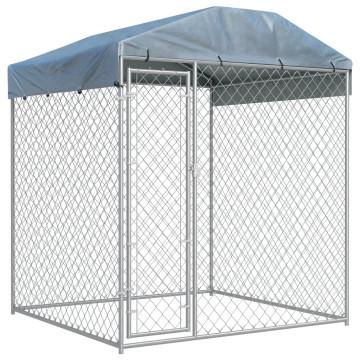 Kültéri kutyakennel ponyvatetővel 2 x 2 x 2,1 m - utánvéttel vagy ingyenes szállítással