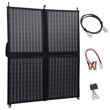 összecsukható napelemtöltő 80 W/12 V - utánvéttel vagy ingyenes szállítással