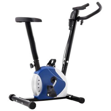 Kék szíjhajtású szobakerékpár - utánvéttel vagy ingyenes szállítással