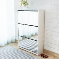 3 szintes fehér cipőszekrény tükörrel 63 x 17 x 102,5 cm - utánvéttel vagy ingyenes szállítással