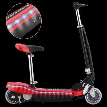Piros elektromos roller üléssel és LED-del 120 W - utánvéttel vagy ingyenes szállítással
