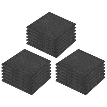 18 darab fekete esésvédő ütéscsillapító gumilap 50 x 50 x 3 cm - utánvéttel vagy ingyenes szállítással