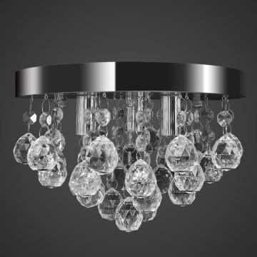 Mennyezeti függő lámpa kristály csillár króm - utánvéttel vagy ingyenes szállítással