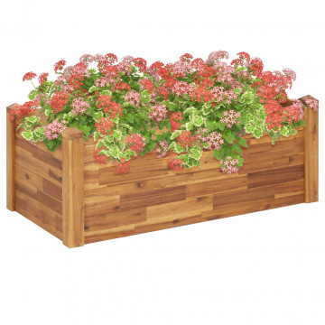 Tömör akácfa kerti virágágy 110 x 60 x 44 cm - utánvéttel vagy ingyenes szállítással