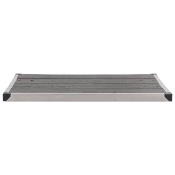 Szürke WPC rozsdamentes acél kültéri zuhanytálca 110 x 62 cm - utánvéttel vagy ingyenes szállítással