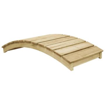 Impregnált fenyőfa kerti híd 170 x 74 cm - utánvéttel vagy ingyenes szállítással