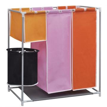 3 részes mosodai válogató szennyesgyűjtő kosárral - utánvéttel vagy ingyenes szállítással