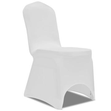 100 db fehér sztreccs székszoknya - utánvéttel vagy ingyenes szállítással