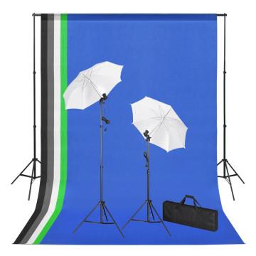 Fotóstúdió-felszerelés hátterekkel, lámpákkal és ernyőkkel - utánvéttel vagy ingyenes szállítással