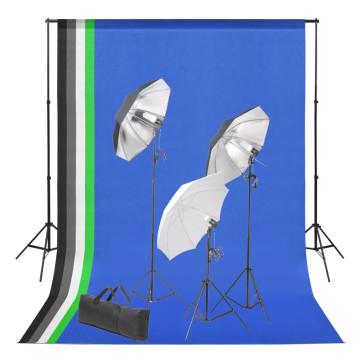Fotóstúdió-felszerelés hátterekkel és lámpaszettel - utánvéttel vagy ingyenes szállítással