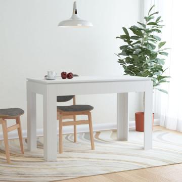 Fehér forgácslap étkezőasztal 120 x 60 x 76 cm - utánvéttel vagy ingyenes szállítással