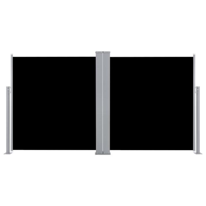 Fekete behúzható oldalsó napellenző 120 x 600 cm - utánvéttel vagy ingyenes szállítással