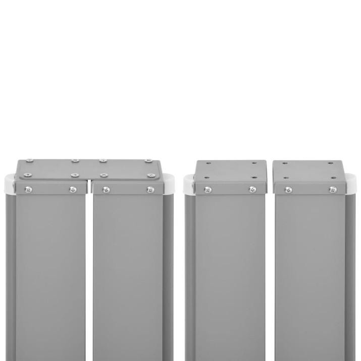 Barna behúzható oldalsó napellenző 120 x 600 cm - utánvéttel vagy ingyenes szállítással