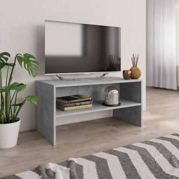 Betonszürke forgácslap TV-szekrény 80 x 40 x 40 cm - utánvéttel vagy ingyenes szállítással