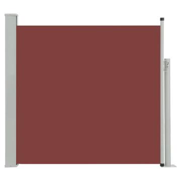 Barna kihúzható oldalsó teraszi napellenző 170 x 300 cm - utánvéttel vagy ingyenes szállítással