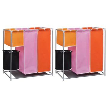 2 db 3-részes ruháskosár szennyestartóval - utánvéttel vagy ingyenes szállítással