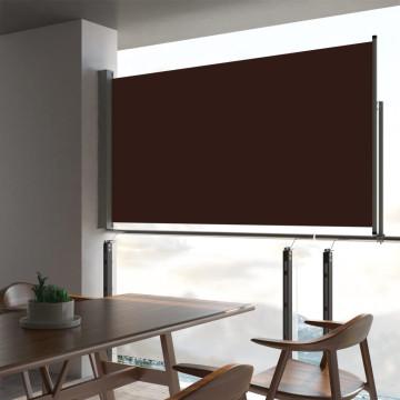Barna behúzható oldalsó terasz napellenző 160 x 300 cm - utánvéttel vagy ingyenes szállítással