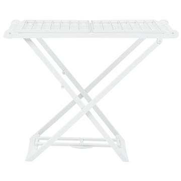 Fehér műanyag összecsukható ruhaszárító állvány - utánvéttel vagy ingyenes szállítással