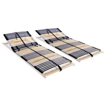 2 db 7 zónás 42 léces ágyrács 70 x 200 cm - utánvéttel vagy ingyenes szállítással
