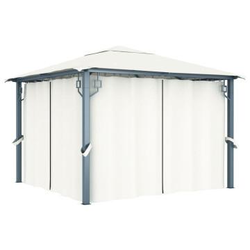 Krémszínű függönyös pavilon 300 x 300 cm - utánvéttel vagy ingyenes szállítással