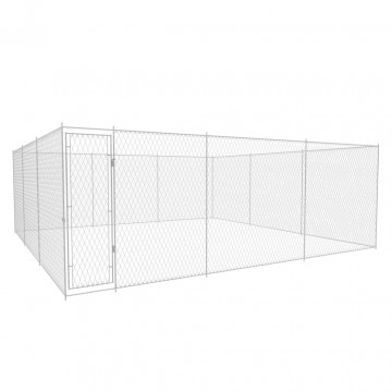 Kültéri horganyzott acél kutyakennel 6 x 6 x 2 m - utánvéttel vagy ingyenes szállítással