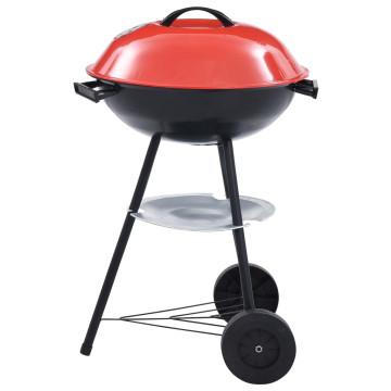Hordozható XXL faszenes gömbgrill kerekekkel 44 cm - utánvéttel vagy ingyenes szállítással