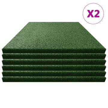 12 db zöld ütéscsillapító gumilap 50 x 50 x 3 cm - utánvéttel vagy ingyenes szállítással