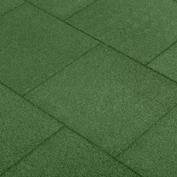 18 db zöld ütéscsillapító gumilap 50 x 50 x 3 cm - utánvéttel vagy ingyenes szállítással