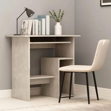 Betonszürke forgácslap íróasztal 80 x 45 x 74 cm - utánvéttel vagy ingyenes szállítással