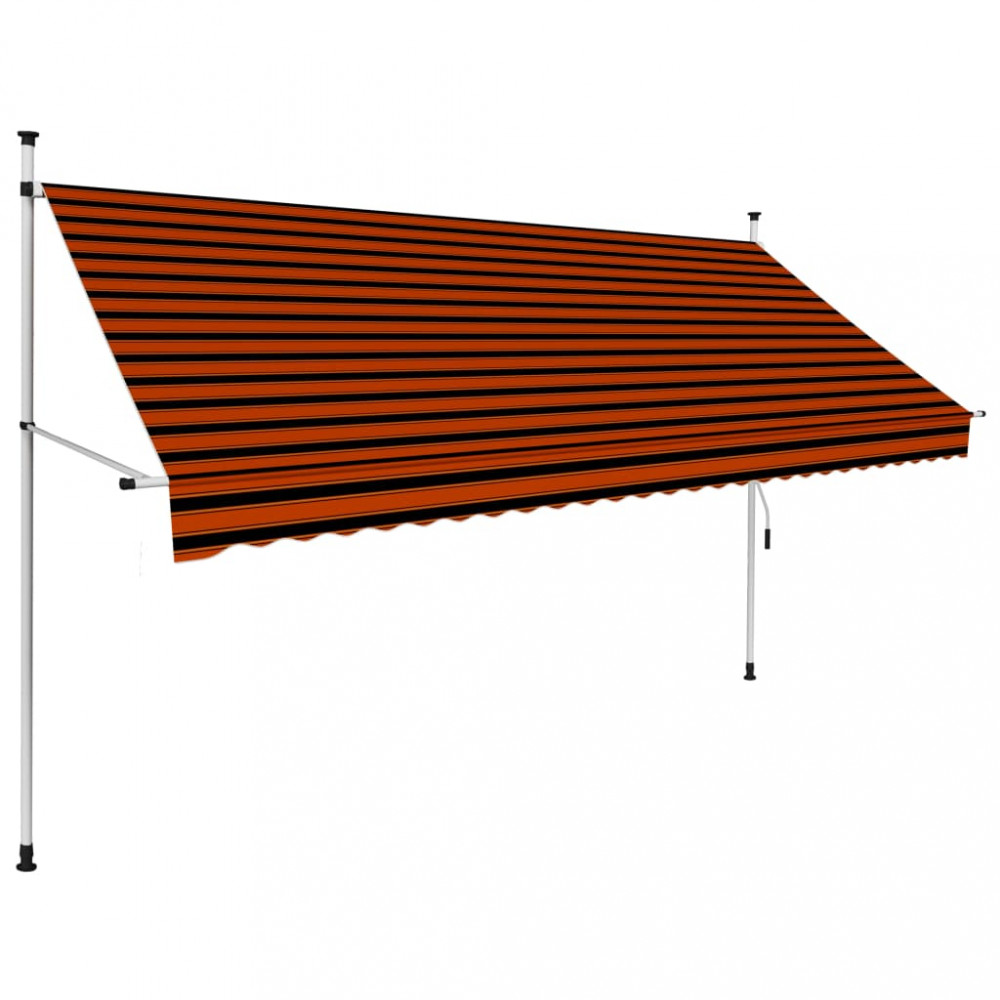 Narancssárga és barna kézzel feltekerhető napellenző 300 cm - utánvéttel vagy ingyenes szállítással