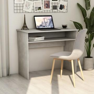 Betonszürke forgácslap íróasztal 90 x 50 x 74 cm - utánvéttel vagy ingyenes szállítással