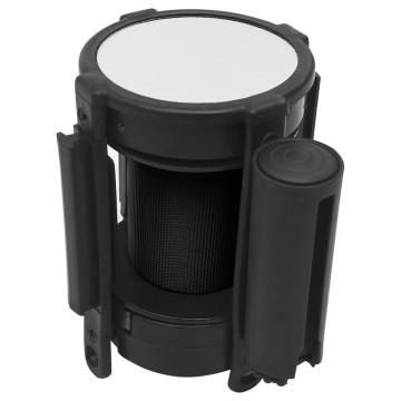 Fekete visszahúzható szíjas elválasztókorlát 200 cm - utánvéttel vagy ingyenes szállítással