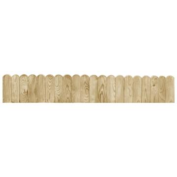 3 db impregnált fenyőfa bordűrtekercs 120 cm - utánvéttel vagy ingyenes szállítással