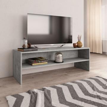 Betonszürke forgácslap TV-szekrény 120 x 40 x 40 cm - utánvéttel vagy ingyenes szállítással