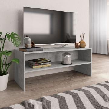 Betonszürke forgácslap TV-szekrény 100 x 40 x 40 cm - utánvéttel vagy ingyenes szállítással