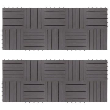 20 darab antikolt szürke tömör akácfa padlólap 30 x 30 cm - utánvéttel vagy ingyenes szállítással