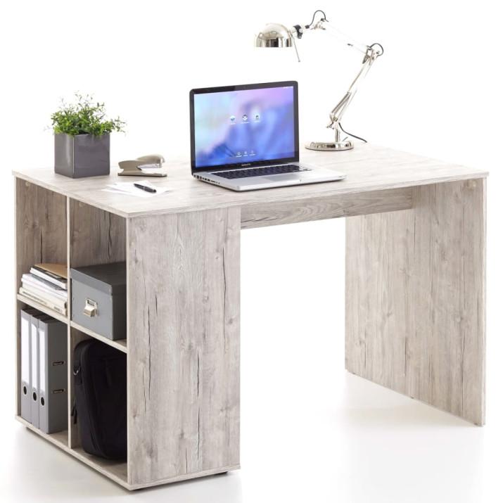 FMD homoktölgy színű íróasztal oldalpolcokkal 117 x 73 x 75 cm - utánvéttel vagy ingyenes szállítással