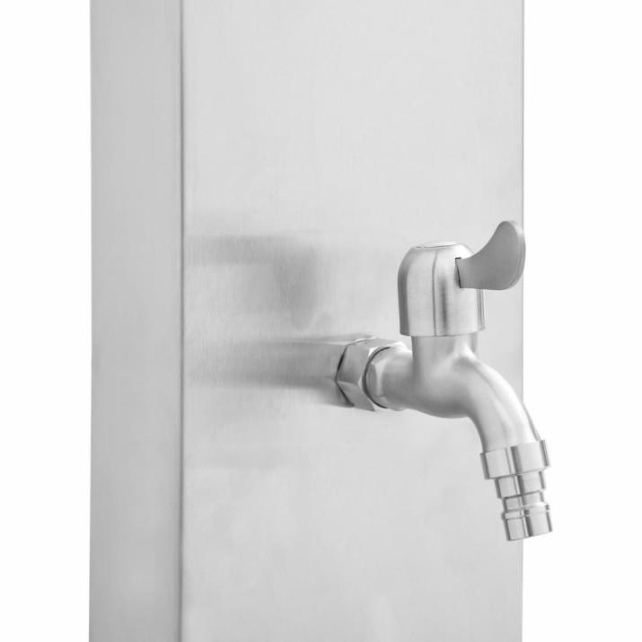 Kültéri WPC és rozsdamentes acél zuhany és zuhanytálca - utánvéttel vagy ingyenes szállítással
