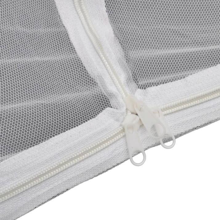 Fehér üvegszálas kempingsátor 200 x 120 x 130 cm - utánvéttel vagy ingyenes szállítással