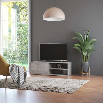 Betonszürke forgácslap TV-szekrény 120 x 34 x 37 cm - utánvéttel vagy ingyenes szállítással