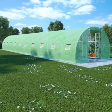 45 m²-es acélalapzatú melegház 15 x 3 x 2 m - utánvéttel vagy ingyenes szállítással