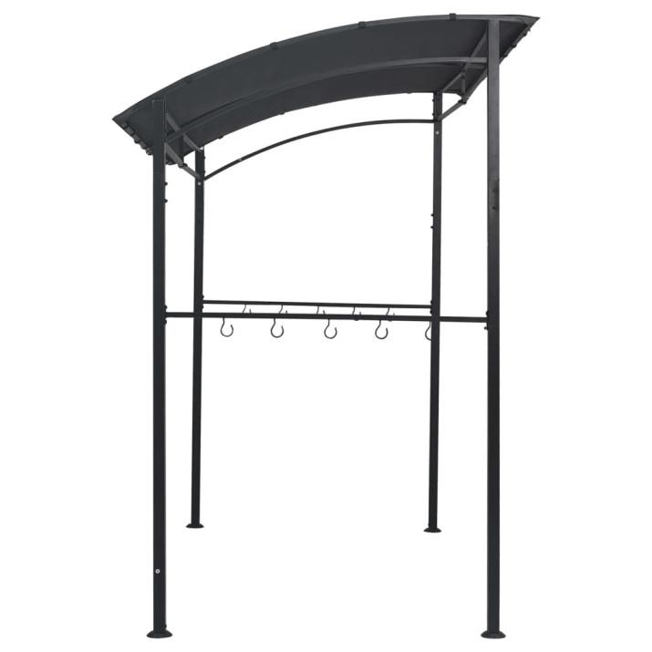 Antracitszürke acél grillpavilon 215 x 150 x 220 cm - utánvéttel vagy ingyenes szállítással