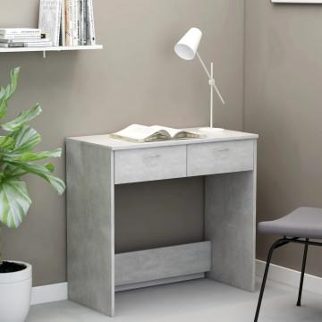 Betonszürke forgácslap íróasztal 80 x 40 x 75 cm - utánvéttel vagy ingyenes szállítással