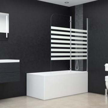 átlátszó csíkos edzett üveg kádparaván 120 x 140 cm - utánvéttel vagy ingyenes szállítással
