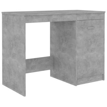 Betonszürke forgácslap íróasztal 100 x 50 x 76 cm - utánvéttel vagy ingyenes szállítással