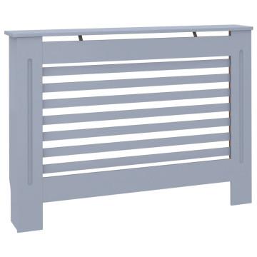 Antracitszürke MDF radiátorburkolat 112 x 19 x 81 cm - utánvéttel vagy ingyenes szállítással